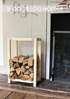 Rustic indoor firewood rack (note: scroll down on webpage for free ...