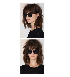 Messy Long Bob With Bangs - Stylish Short Haircut Ideas From Pinterest - Photos
