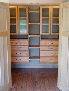 John Louis Home Solid Wood Shelving Design With Double Towers Including  Drawers And Glass Doors,