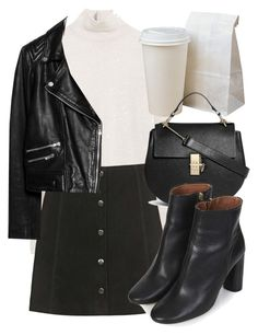 """""""Untitled #4415"""" by laurenmboot ❤ liked on Polyvore featuring Zara, Topshop, MANGO and Chloé"""