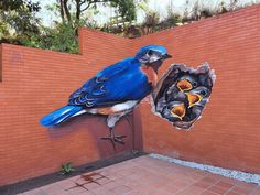 Odeith is a street artist from Damaia, Portugal. Odeith makes realistic drawings using graffiti art. His drawings are so realistic. 3d Street Art, Murals Street Art, Amazing Street Art, Street Art Graffiti, Mural Art, Street Artists, Graffiti Kunst, Graffiti Drawing, Graffiti Murals