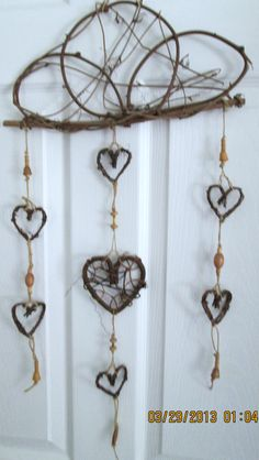 Grapevine Heart Mobile - Full Piece handmade by Paige with Evolution Flair