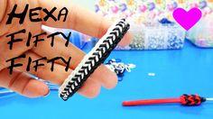 Loom Bands Hexa Fishtail 50.50 Rainbow Loom Band Bracelet. Armband How to…