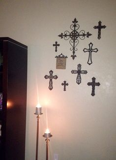 My Newest Cross Collage In New Apartment For Now An Pinterest Apartments And Walls