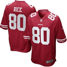 Mens San Francisco 49ers Jerry Rice Nike Scarlet Retired Player Game Jersey