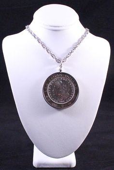 Vintage Las Vegas Commemorative 1878 Morgan Silver Dollar Gaming Token Pendant Necklace by Paststore by paststore on Etsy