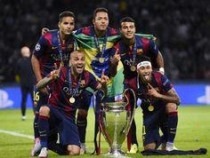 The brazilians of FC Barcelona 2015 UEFA Champions