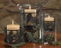 Mantle or coffee table mountain candle