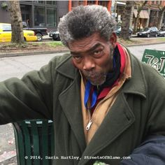 Greg - He was literally digging food out of the can green garbage can when I approached him and gave him a $10 Starbucks card. Food Out, Garbage Can, Starbucks, Seattle, Green