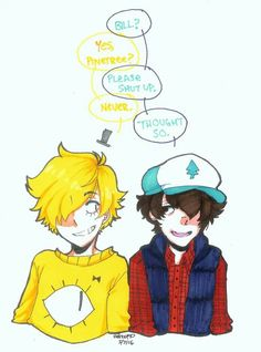 Bill and dipper pines
