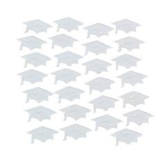 White Graduation Hat Confetti - OrientalTrading.com