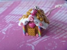 Colliers - Lebkuchen Haus - Anhänger - ein Designerstück von bsweet bei DaWanda
