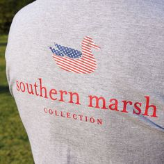 As much as we love to celebrate being Southern, perhaps the only thing we are more proud of is being American. Show off your American pride with this Southern Marsh Authentic Flag tee available in navy, white and gray. Get yours now at saltpines.com