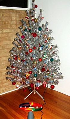 We had an aluminum Christmas Tree with Color Wheel when I was growing up.  I remember thinking it was the most beautiful tree in the whole world!