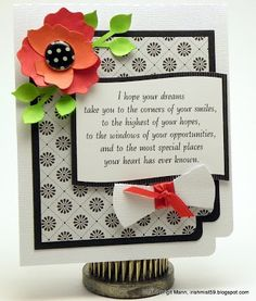 Graduation cards can be boring, but not Brigit's!  This one is stunning!  The diploma is from the GRADUATION DAY SVG KIT.  The flower is from the HAPPY BIRTHDAY TO YOU SVG KIT.