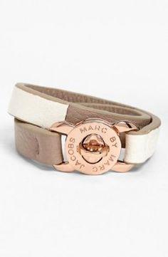 Amazon.com: MARC BY MARC JACOBS 'Turnlock - Katie' Leather Wrap Bracelet: Jewelry