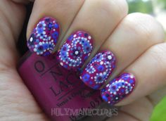 Few contrasting shades, assortment of dotting tools & a steady hand = dramatic nails