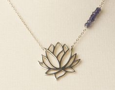Blooming Lotus Necklace Sterling Silver by BloomingLotusJewelry, $74.00