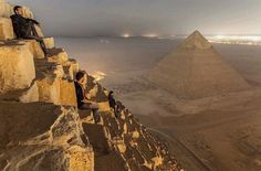Ancient view-too bad you can't climb on the pyramids anymore
