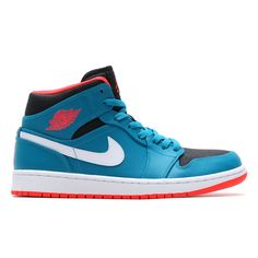 #AirJordan 1 Mid Tropical Teal/Infrared23/Black-White #sneakers