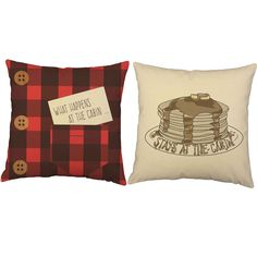 What Happens at the Cabin Throw Pillows - Set of 2