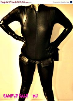 catwoman superhero SAMPLE SALE catsuit sample ready by mjcreation, $240.00