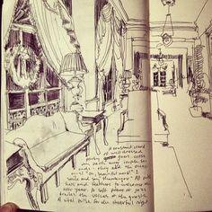 Drawing at the Greenbrier Resort #treybryan