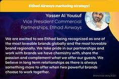 The power of partnerships in Etihad Airways marketing mix and marketing strategy! Makeup Brands, East Africa, Chemistry, Digital Marketing, Commercial