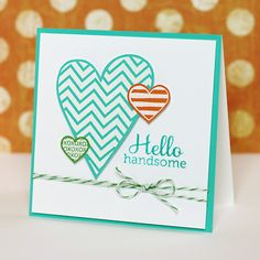 Love the colors of this card. And of course I love the baker's twine:)