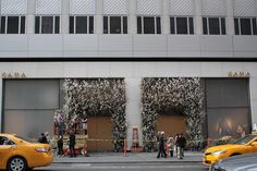 Thierry Boutemy floral installation at new flagship Zara store at 5th and 52nd via saipua