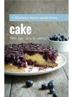 Blueberry Lemon Upside Down Cake is perfect for when springtime comes around. Packed with soft juicy blueberries and atop a light fluffy sponge.
