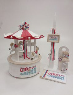 Circus Carousel Baby Shower Diapers, Carousel, Snow Globes, Table Lamp, Home Decor, Cake, Products, Table Lamps, Decoration Home