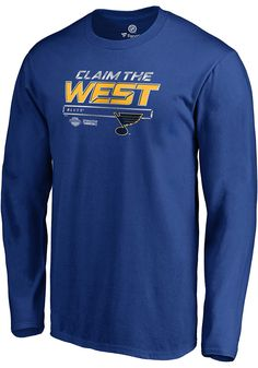 new styles 9efec 50685 ... Stanley cup playoff. Puppy My · ha ha · St Louis Blues Blue Crease 2019  Conference Final Long Sleeve T Shirt, Blue, 100