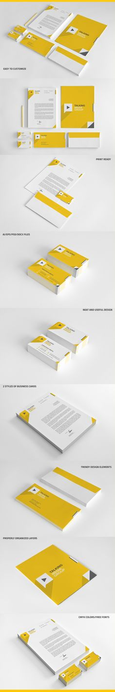Flat Corporate Stationery on Behance