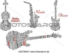 gitarre, geige, und, saxophon, mit, notizen, oder, etikett, wolkenlandschaft Große Clipart Grafik anschauen