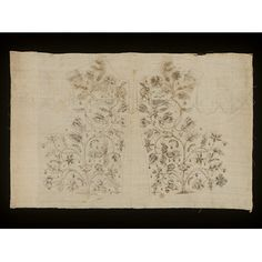 Panel of jacket fronts | Pierrepont, Mary | VA Search the Collections +sleeves- all are inked; sleeves are partially embroidered.  252A-1902