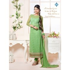 Net Embriodered Multicolor Partywear Designer DREES