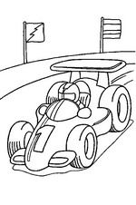 kleurplaat Racewagen