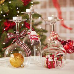 Botes cristal decorados buscar con google bones idees - Ideas decoracion navidad manualidades ...