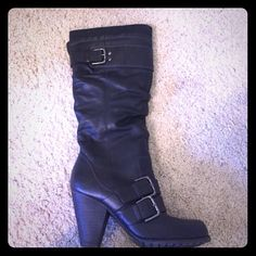 Aldo boots size 8 Re posh I bought these for my daughter but she doesn't like heels. Great condition, barely worn. My daughter didn't wear them. ALDO Shoes Heeled Boots