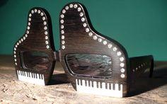 ELTON JOHN HEAD by Urban Spectacles   (EBONY, CAMEL BONE, CRYSTALS) Wooden Sunglasses, Four Eyes, Camel, Bones, Urban, Crystals, Weird, Camels, Crystal