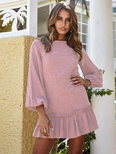 Spend your days swaying from side to side in our light Bird On A Wire Dress - pair it with your favourite gold anklets and retro specs! Boho Mini Dress, Short Mini Dress, Mini Dresses, Silhouette Design, Bohemia Dress, Mauve Dress, Dress With Boots, Ruffle Dress, Dress Brands