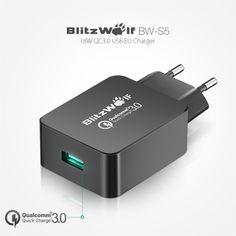 Купить товарBlitzWolf ЕС Сертифицирована Быстрая Зарядка 3.0 18 Вт Micro…