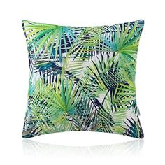 American Pastoral Simple Cotton Linen Plants Watercolor Printing Sofa Pillow Palm Leaf Pattern Cushions