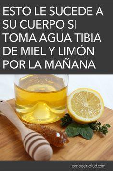Esto es lo que le sucede a su cuerpo si toma agua tibia de miel y limón por la mañana #salud