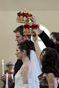 these look a lot like the crowns Terry and I had at our wedding! .... A Russian Orthodox Wedding