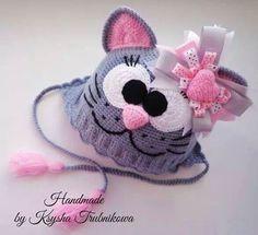 Схема вязания шапки для девочки