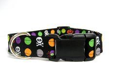 "Adjustable Dog Collar  Halloween Collar  1"" by MuttsandMittens"