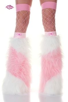 Slash Baby Pink & White Legwarmers