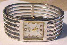 Rumours Gold Faced and Silver Toned Bangle Wrist Watch with New Battery #Rumours #Casual